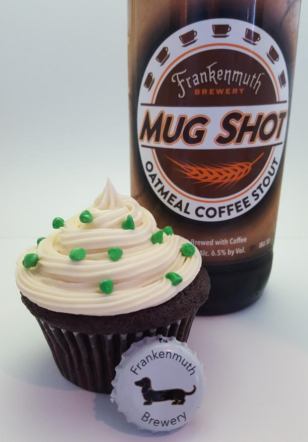 St Patrick S Day Special Mug Shot Oatmeal Stout Cupcakes
